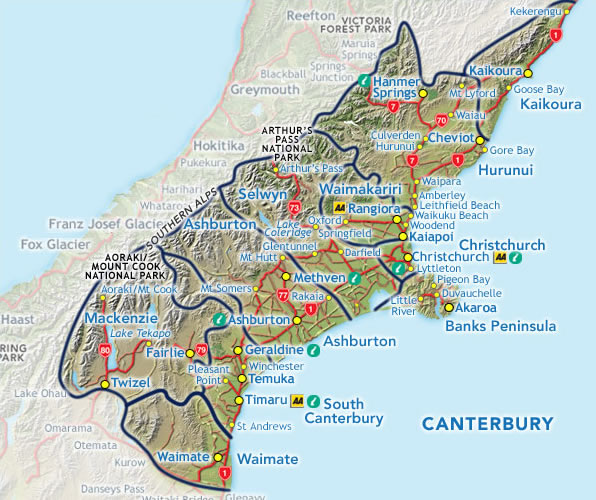 South Island Nz Map Detailed