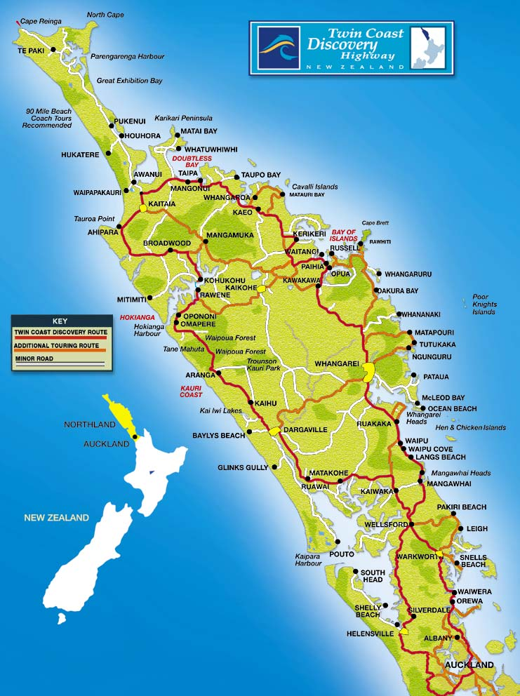 Detailed Map Of New Zealand North Island.Top Things To Do In The North Island Of New Zealand Kiwi Road Trips